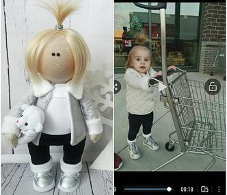 кукла работы Ольги Деменчук