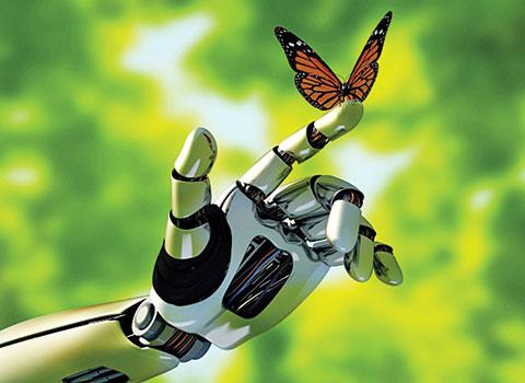 Бабочка и робот