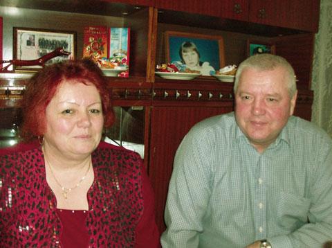 Галина Александровна АХРЕМ (в девичестве Телеш) с мужем